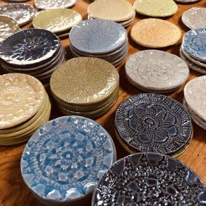 Handmade 3″ Pottery Round